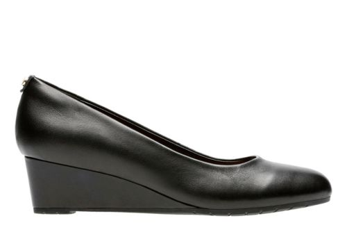 Vendra Bloom Black Leather womens-wide-width