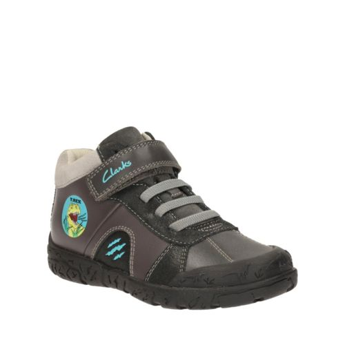 Bronto Roar Toddler Grey Leather boys-shoes