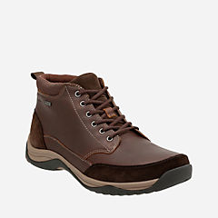 Baystone Top GTX Brown Leather mens-ortholite