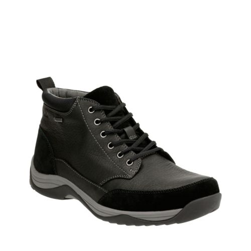 Baystone Top GTX Black Leather mens-ortholite