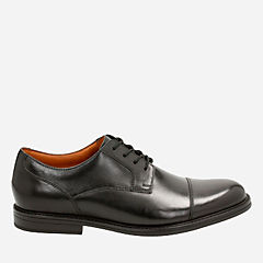 Beckfield Cap Black Leather mens-dress-shoes