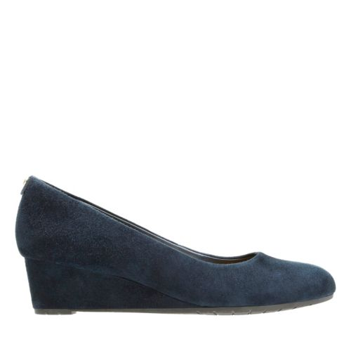 Vendra Bloom Navy Suede sale-womens-wedges