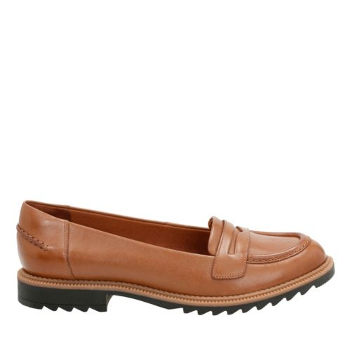 Griffin Milly Tan Leather womens-flats