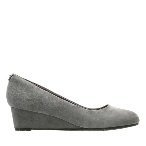 Vendra Bloom Grey Suede sale-womens-wedges