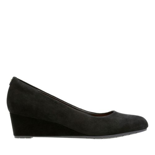 Vendra Bloom Black Suede womens-narrow-width