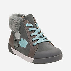 Lil Folk Ice Toddler Grey Leather girls-shoes
