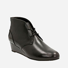 Vendra Peak Black Leather womens-wide-width