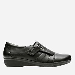 Everlay Luna Black Leather womens-casual-shoes
