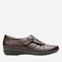 Everlay Luna Dark Brown Leather womens-narrow-width