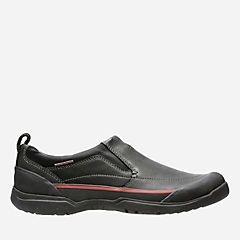 Allyn Step Black Leather mens-waterproof