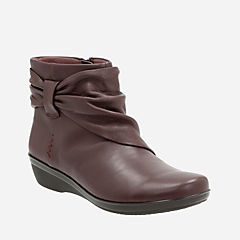 Everlay Mandy Aubergine Leather womens-ankle-boots