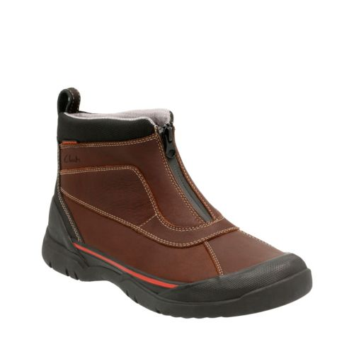 Allyn Up Brown Tumbled Leather mens-ortholite