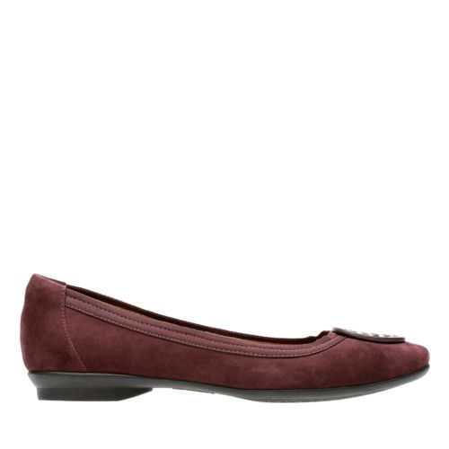 Candra Blush Aubergine Suede womens-extra-wide-width