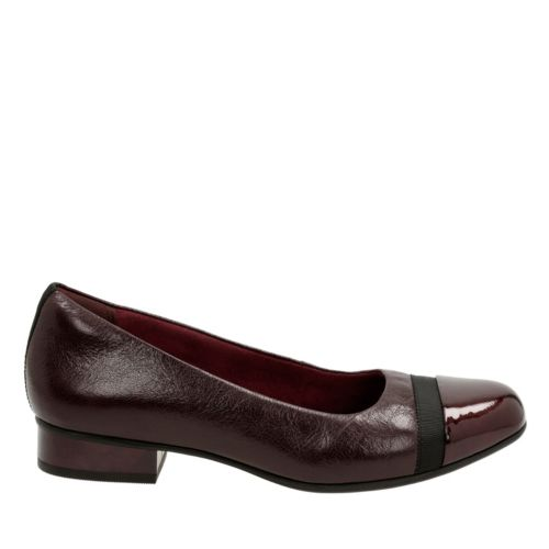 Keesha Rosa Aubergine Leather womens-extra-wide-width