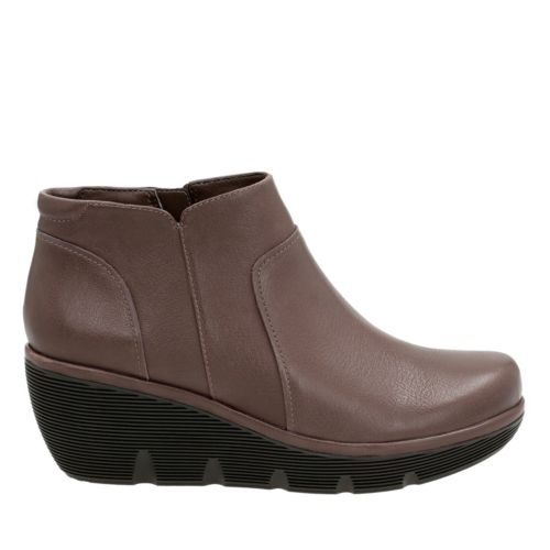Clarene Sun Taupe Leather womens-wide-width