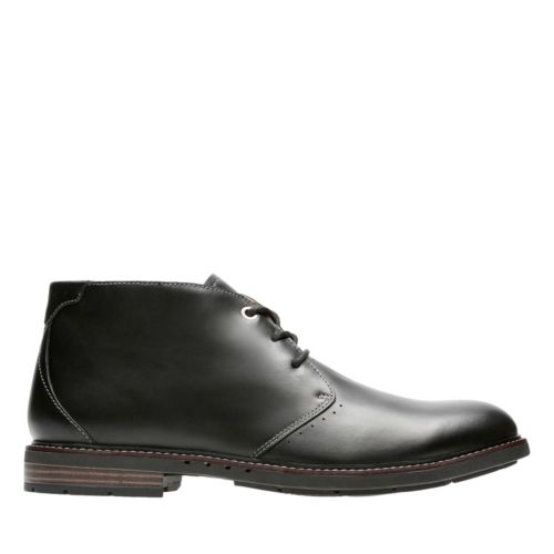 Unelott Mid Black Leather mens-ortholite