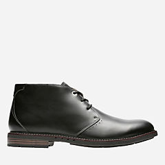 Unelott Mid Black Leather mens-unstructured
