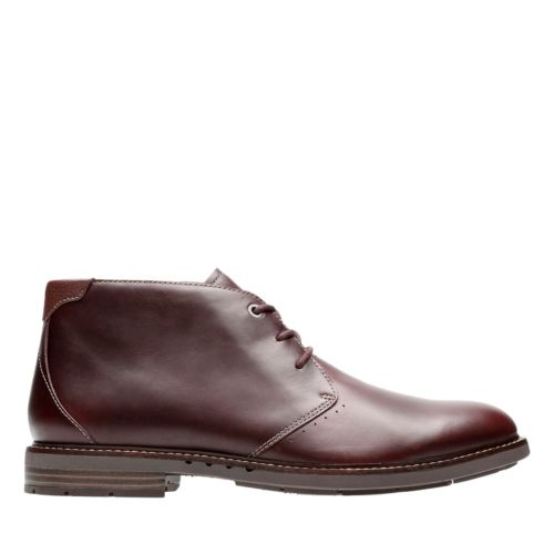 UnElott Mid Burgundy Leather mens-ortholite