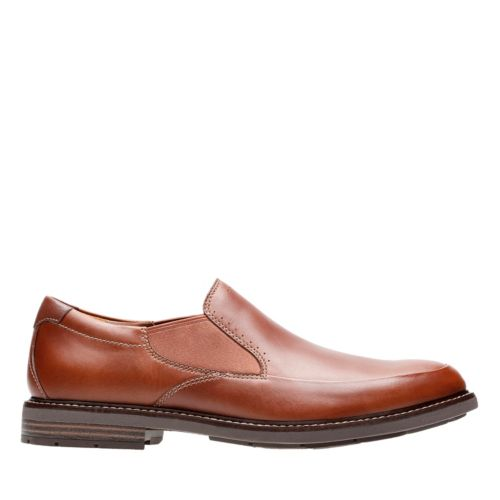 Unelott Step Tan Leather mens-loafer-slip-on