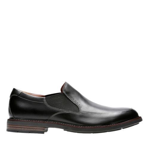 Unelott Step Black Leather mens-loafer-slip-on