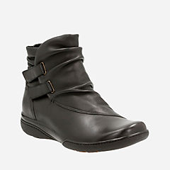 Kearns Garden Black Leather womens-ankle-boots