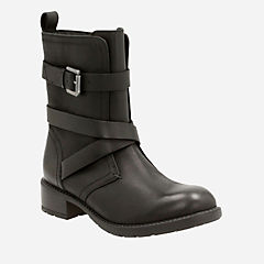 Swansea Tobin Black Leather womens-waterproof