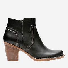 Carleta Paris Black Leather womens-ortholite