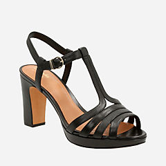 Jenness Night Black Leather womens-sandals-heels