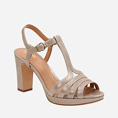 Jenness Night Champagne Metallic Leather womens-sandals-heels