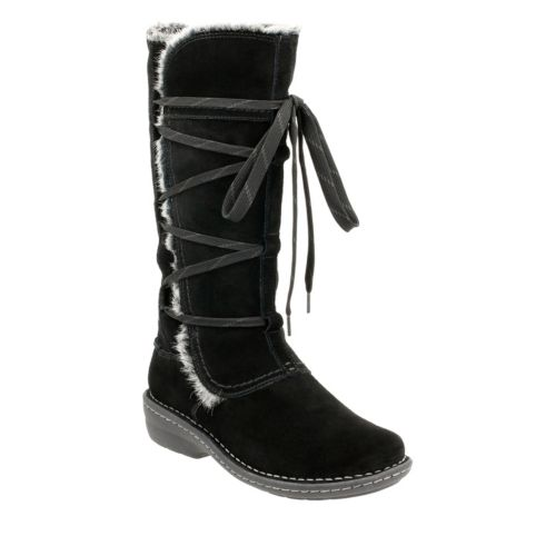Avington Hayes Black Combi Suede womens-winter-boots