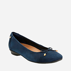 Candra Light Navy Suede womens-extra-wide-width