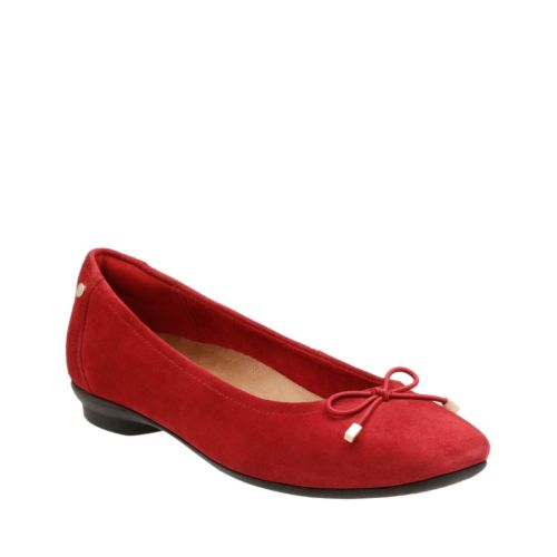 Candra Light Red Suede womens-wide-width