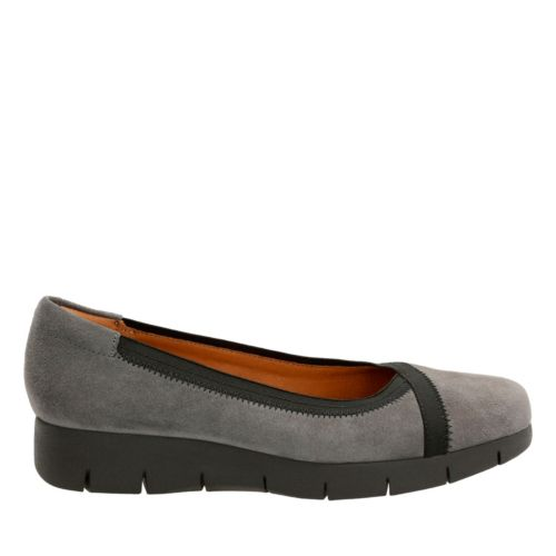 Daelyn Hill Grey Suede womens-ortholite