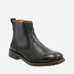 Faulkner On Black Leather mens-casual-boots