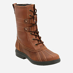 Tavoy Juniper Brown/Tan Leather Combi womens-midcalf-boots