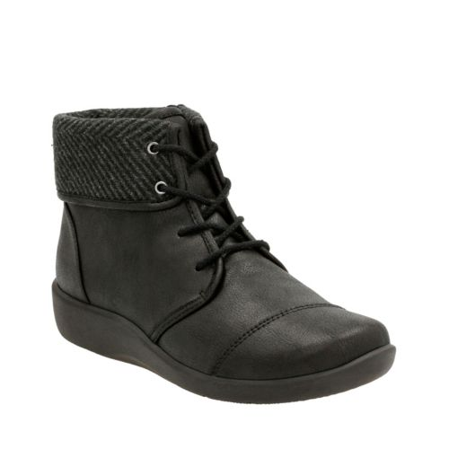 Sillian Frey Black Synthetic Nubuck womens-ankle-boots