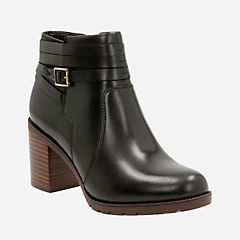 Malvet Maria Black Leather womens-ankle-boots