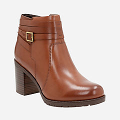 Malvet Maria Dark Tan Leather womens-ankle-boots
