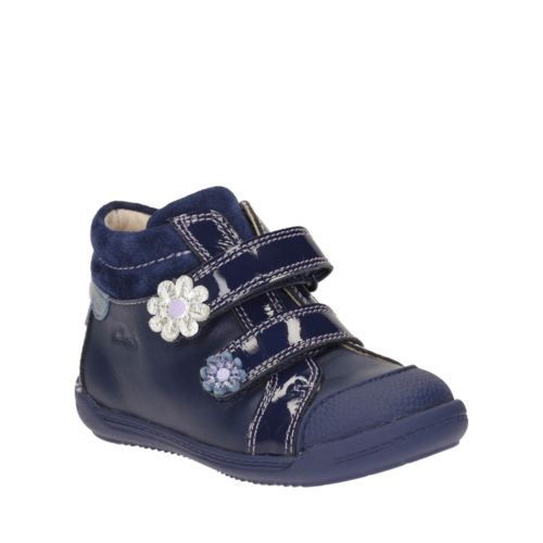 Softly Tam First  Navy Leather girls-shoes