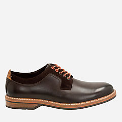 Pitney Walk Dark Brown Leather mens-ortholite