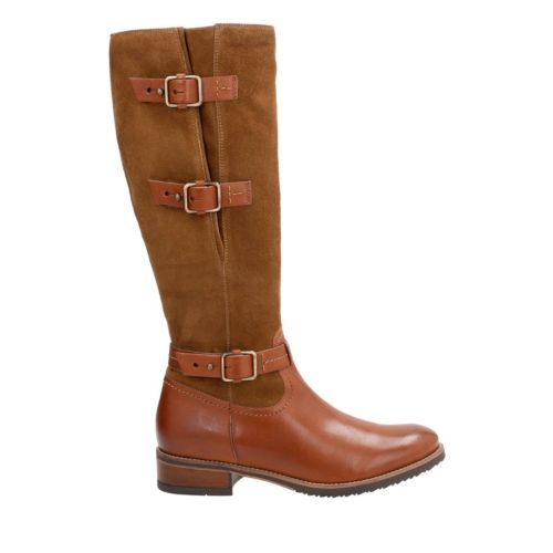 Tamro Marina Brown Combi Leather womens-knee-boots