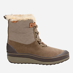 Muckers Mist Brown Suede/Textile womens-waterproof