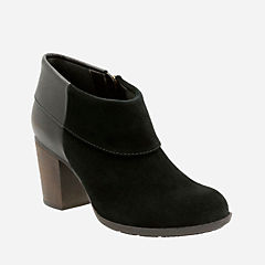 Enfield Canal Black Suede/Leather womens-boots