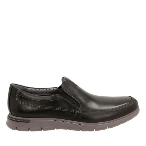 Unbyner Easy Black Leather mens-loafer-slip-on