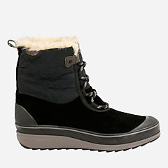 Muckers Mist Black Suede/Textile womens-midcalf-boots