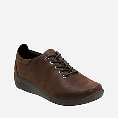 Sillian Tino Dark Brown Synthetic Nubuck womens-wide-width