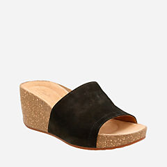 Temira North Black Nubuck womens-sandals-wedge