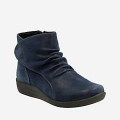Sillian Chell Navy Synthetic Nubuck womens-wide-width