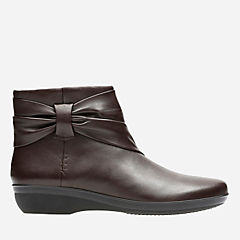 Everlay Mandy Dark Brown Leather womens-wide-width