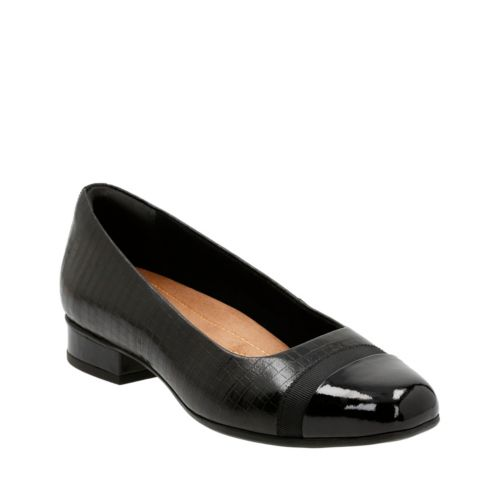 Keesha Rosa Black Croc Leather womens-extra-wide-width